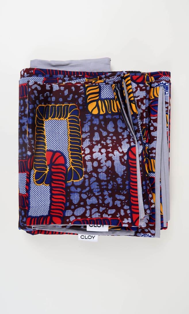 copripiumino legame realizzato con stoffa wax in cotone originaria della Tanzania scatto 4