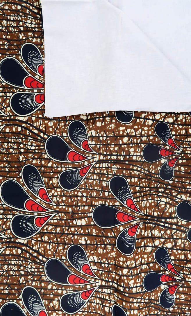 copripiumino pavone realizzato con stoffa wax in cotone originaria della Tanzania scatto 4