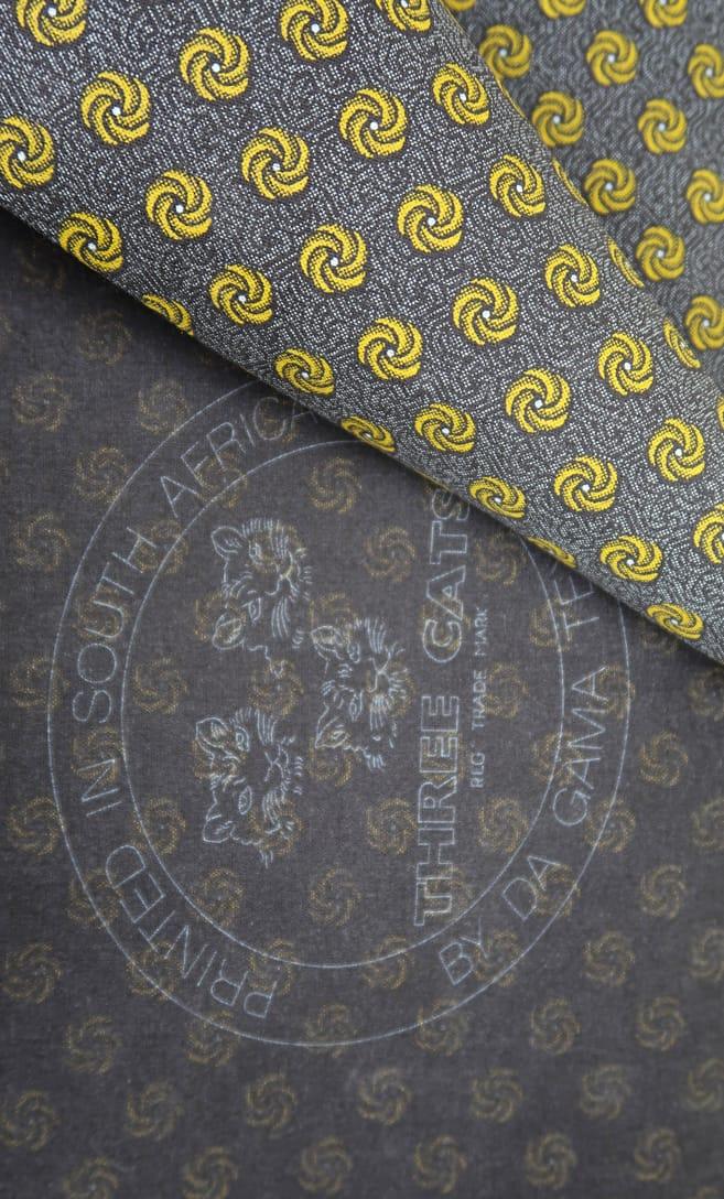 tessuto shweshwe cannella Da Gama originale con logo Three Cats 100% cotone made in Sudafrica scatto 3