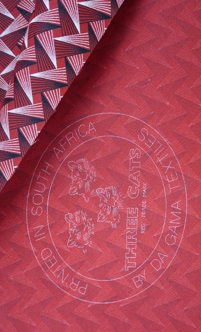 tessuto shweshwe geo Da Gama originale con logo Three Cats 100% cotone made in Sudafrica scatto 4