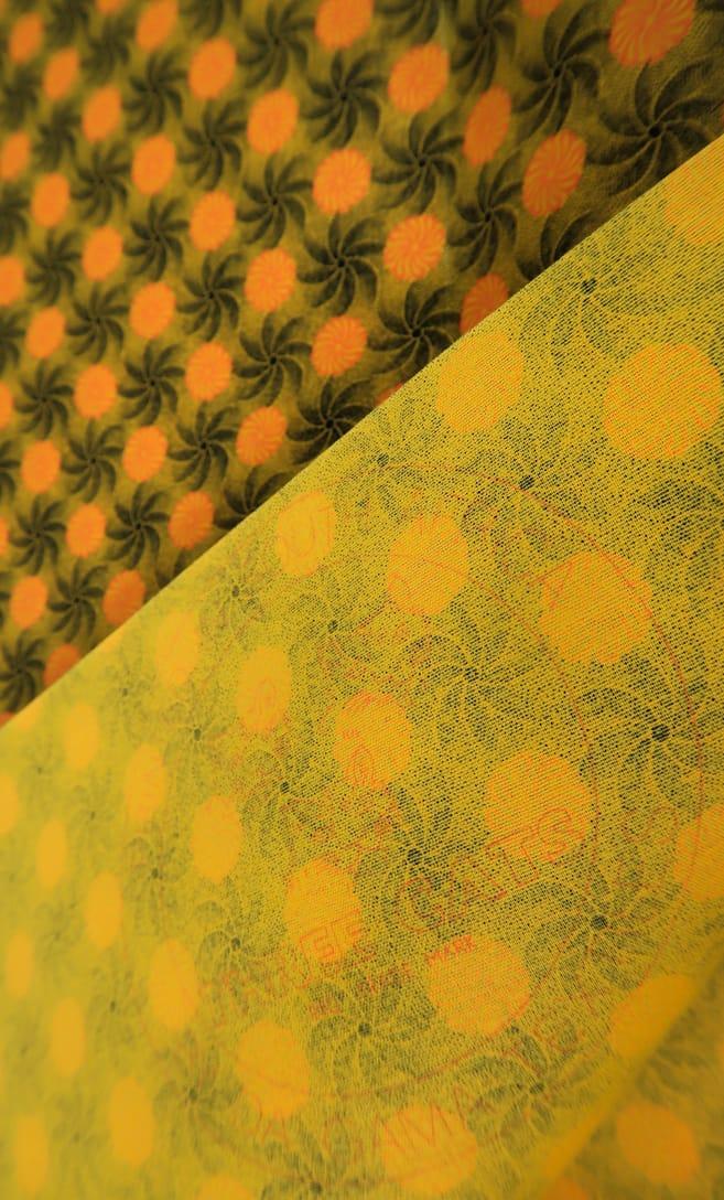 tessuto shweshwe girandola Da Gama originale con logo Three Cats 100% cotone made in Sudafrica scatto 1