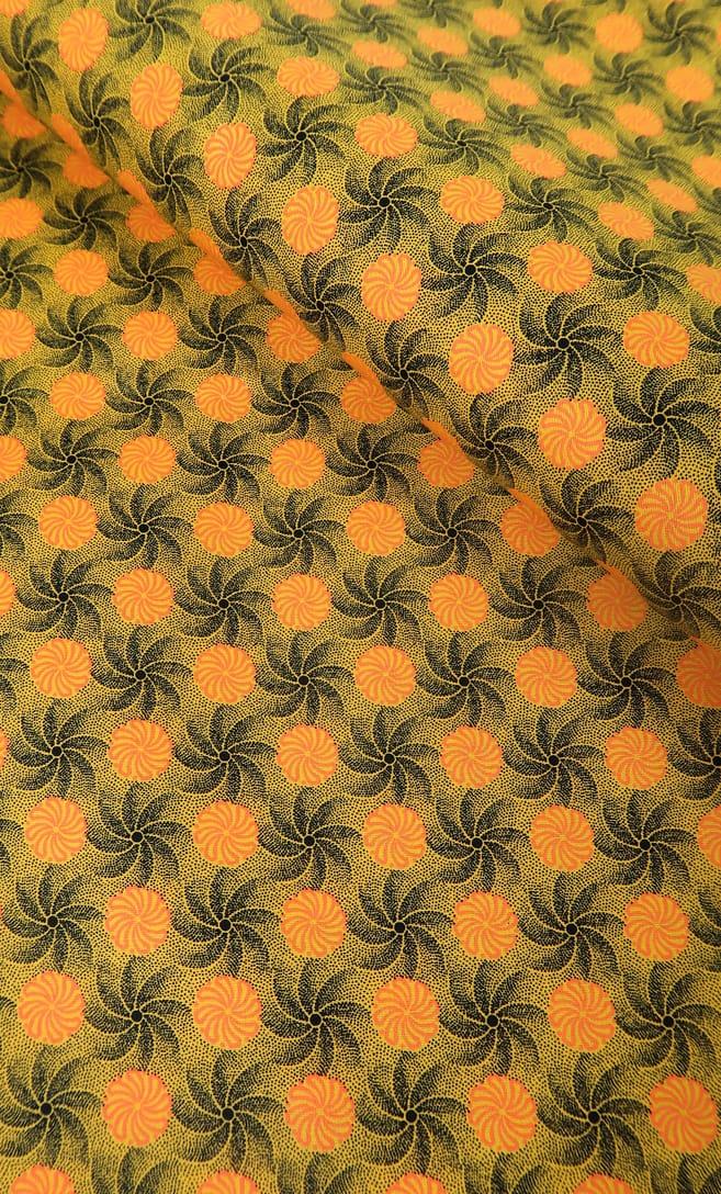 tessuto shweshwe girandola Da Gama originale con logo Three Cats 100% cotone made in Sudafrica scatto 3