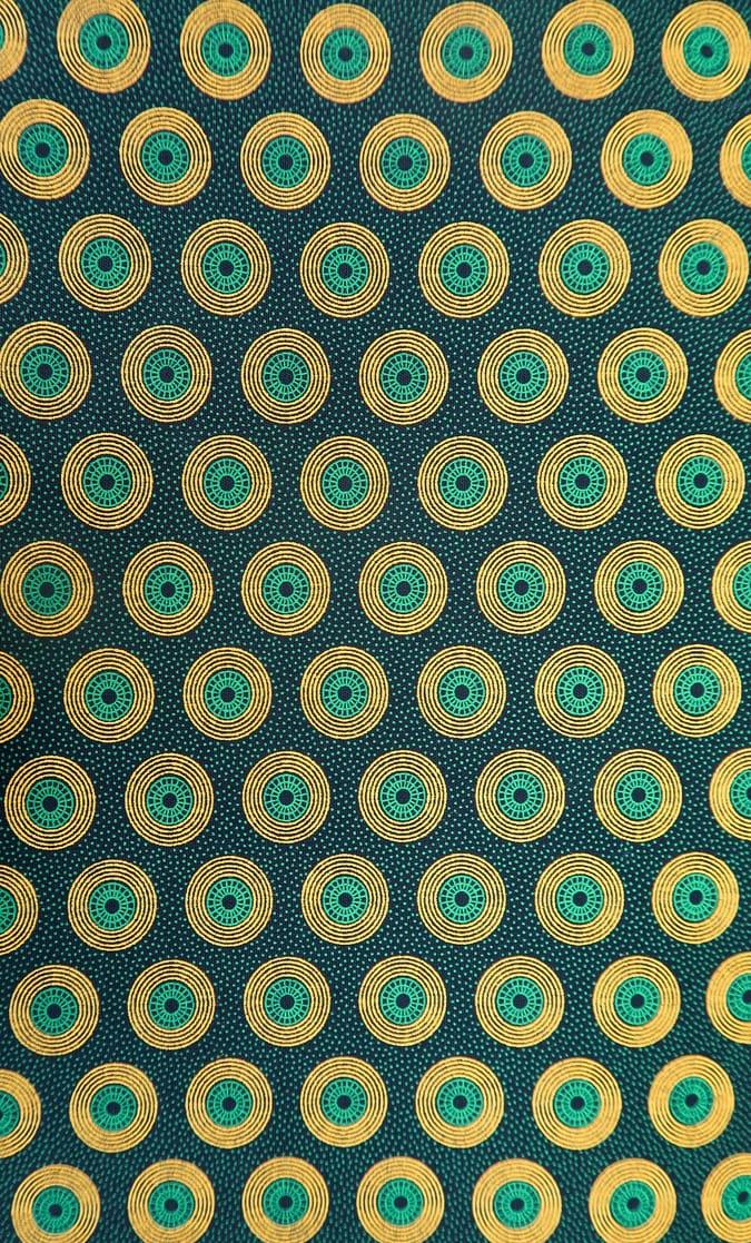 tessuto shweshwe smeraldo Da Gama originale con logo Three Cats 100% cotone made in Sudafrica scatto 4