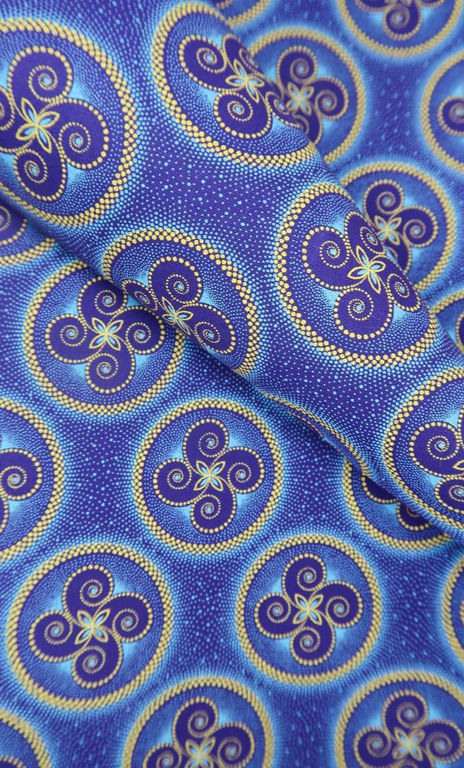 tessuto shweshwe vento Da Gama originale con logo Three Cats 100% cotone made in Sudafrica scatto 2