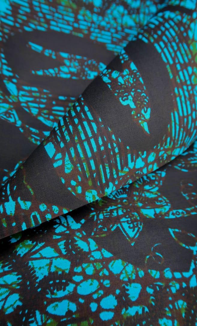 tessuto wax abisso 100% cotone di alta qualità made in Tanzania scatto 4