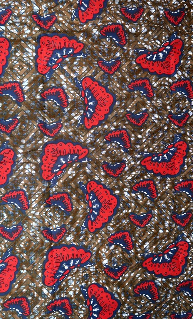 tessuto wax aquilone 100% cotone di alta qualità made in Tanzania scatto 3