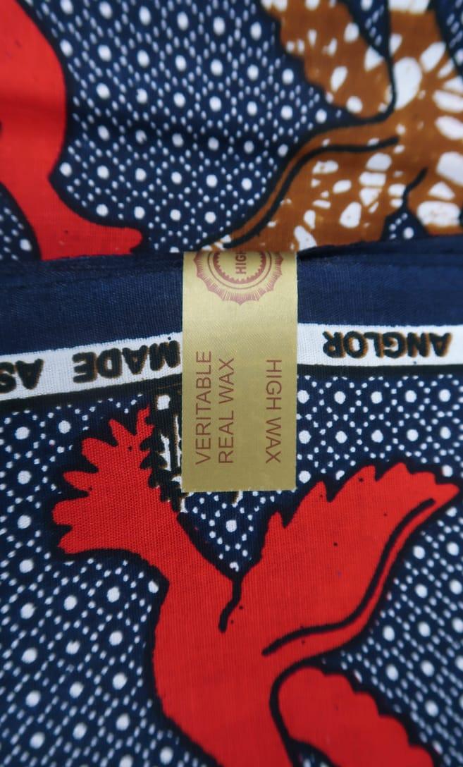 tessuto wax colomba 100% cotone di alta qualità made in Tanzania scatto 5