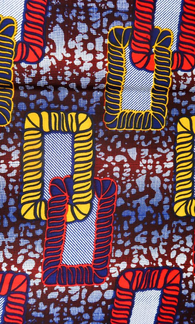 tessuto wax legame 100% cotone di alta qualità made in Tanzania scatto 2