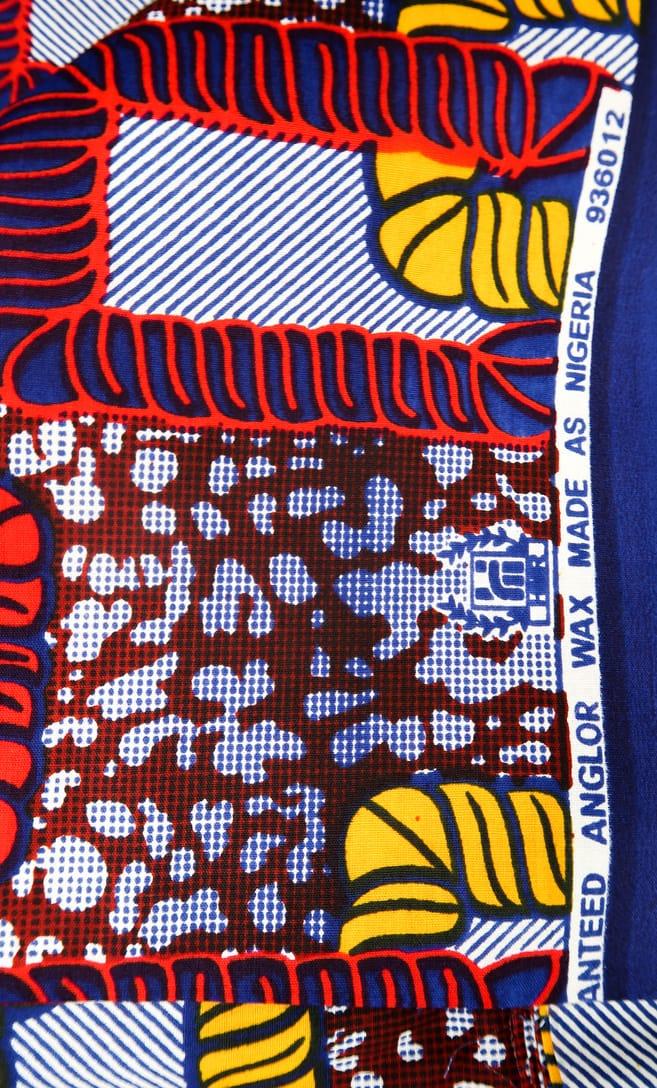tessuto wax legame 100% cotone di alta qualità made in Tanzania scatto 3