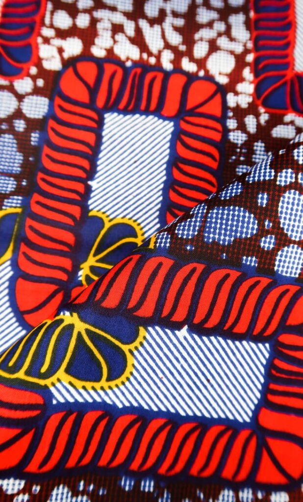 tessuto wax legame 100% cotone di alta qualità made in Tanzania scatto 4