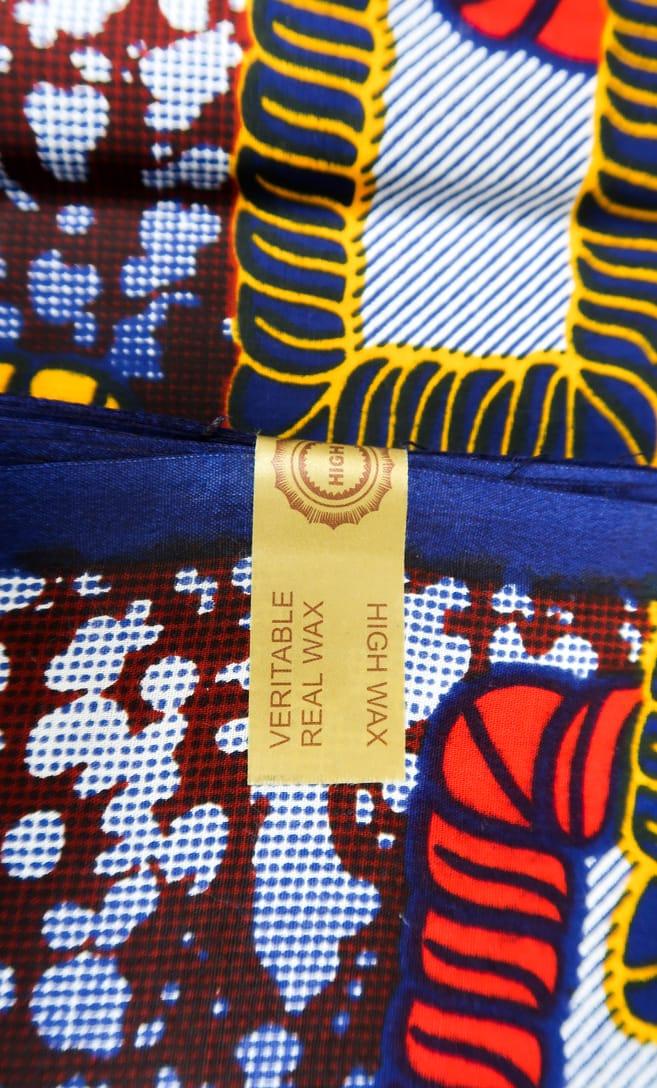 tessuto wax legame 100% cotone di alta qualità made in Tanzania scatto 5