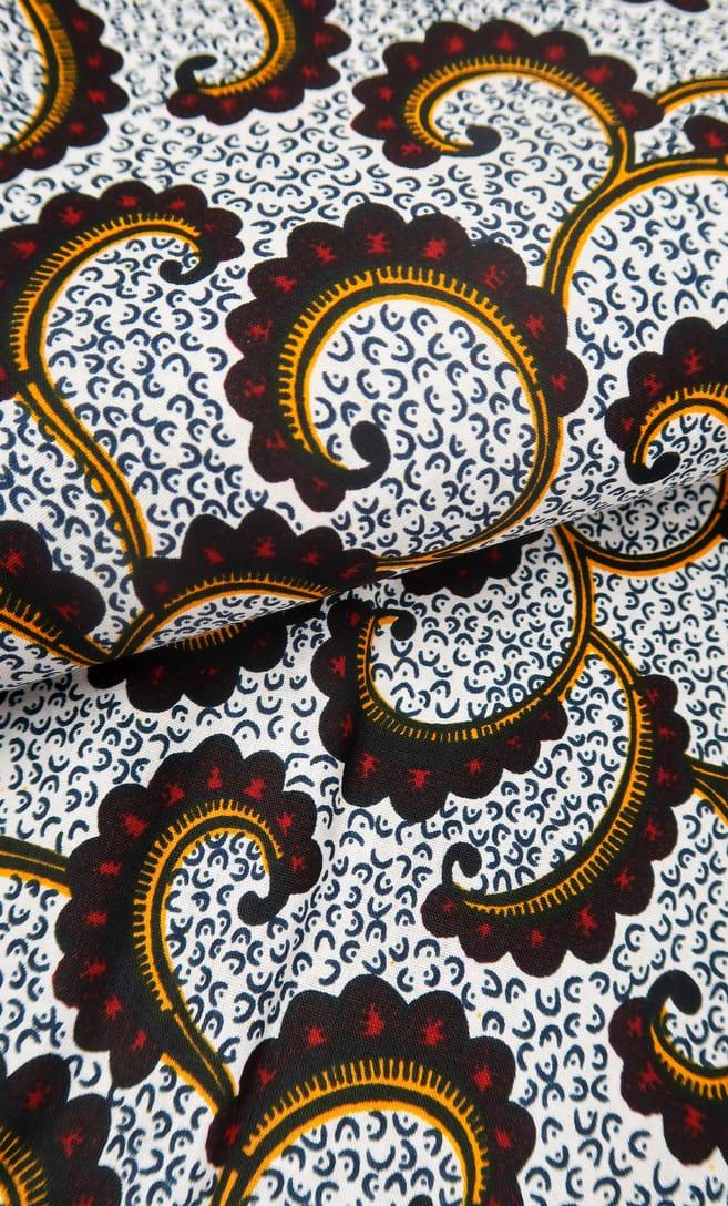 tessuto wax onda 100% cotone di alta qualità made in Tanzania scatto 2