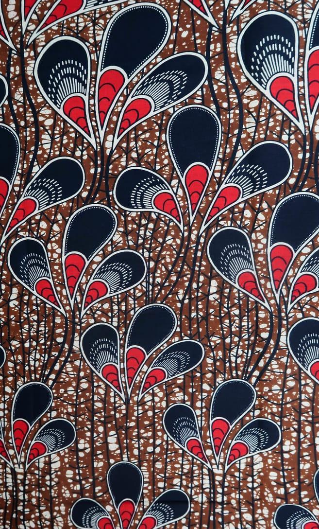 tessuto wax pavone 100% cotone di alta qualità made in Tanzania scatto 1