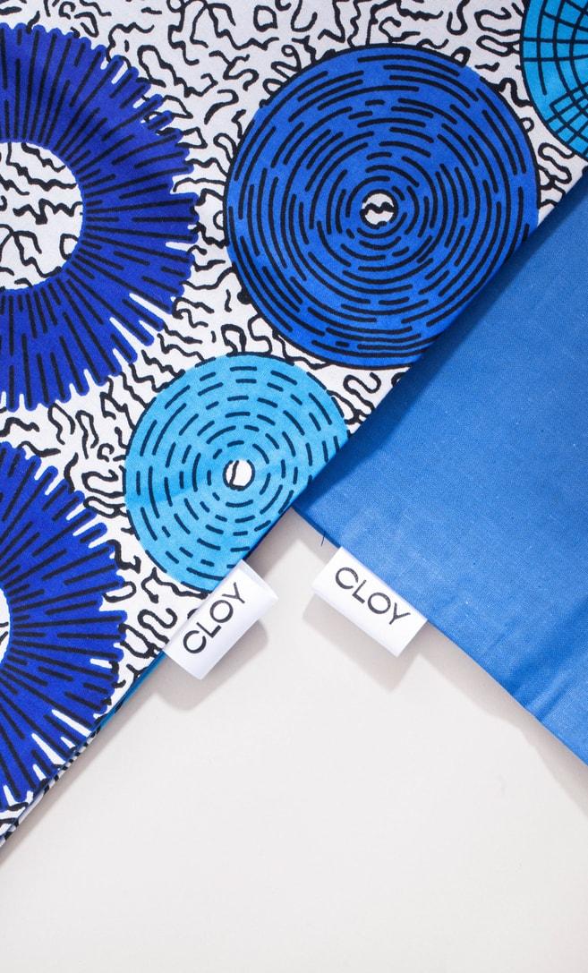 copriletto bolle realizzato con stoffa wax in cotone originaria della Tanzania scatto 4