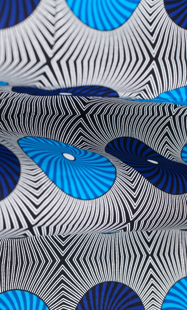 tessuto wax disco 100% cotone di alta qualità made in Tanzania scatto 3