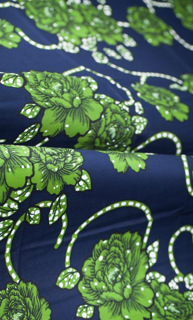 tessuto wax eleganza 100% cotone di alta qualità made in Tanzania scatto 4