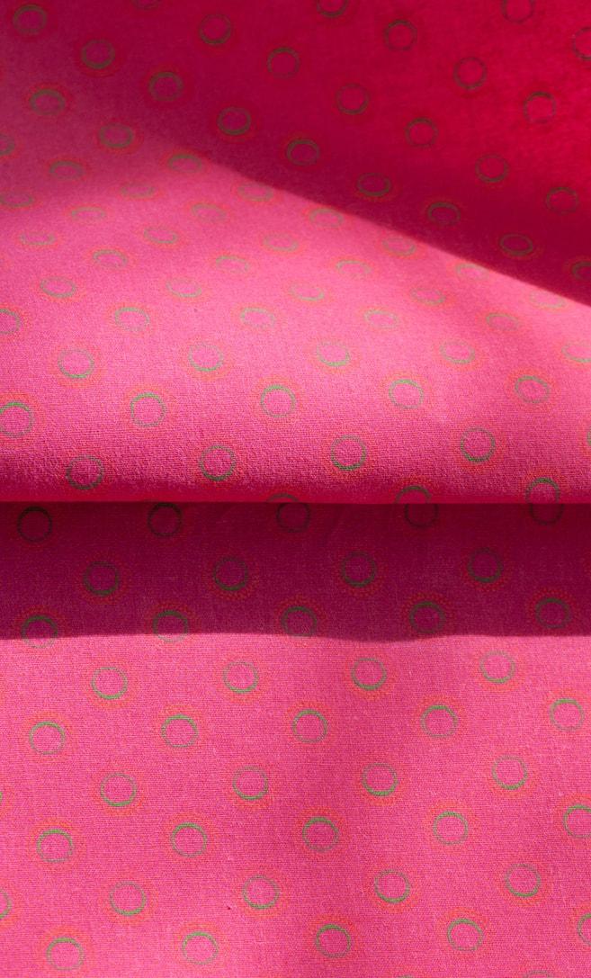 tessuto shweshwe fragola Da Gama originale con logo Three Cats 100% cotone made in Sudafrica scatto 3