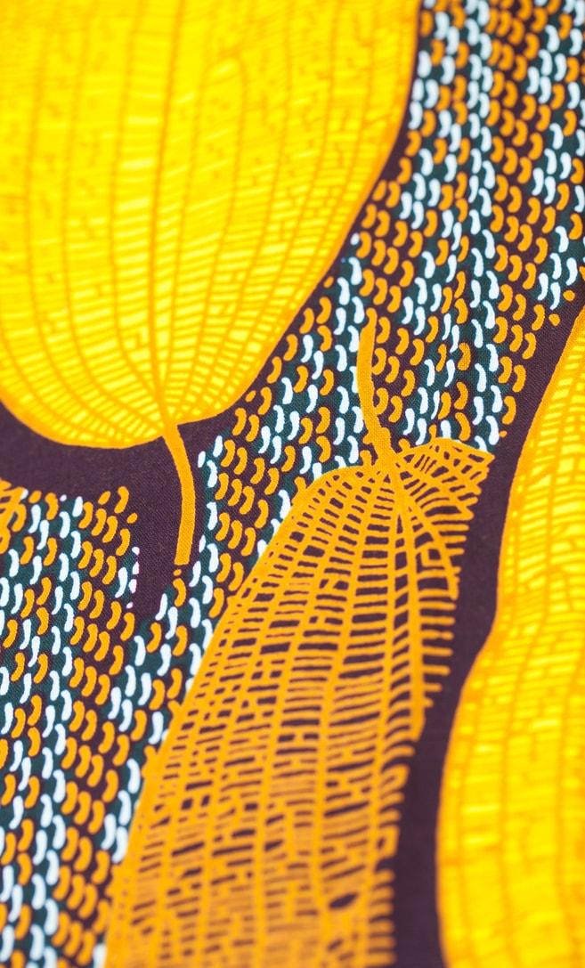 tessuto wax grano 100% cotone di alta qualità made in Tanzania scatto 1