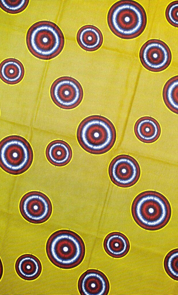 tessuto wax luna 100% cotone di alta qualità made in Tanzania scatto 1