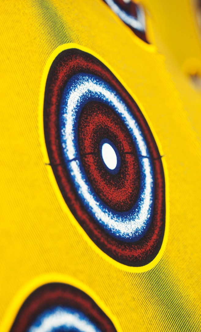 tessuto wax luna 100% cotone di alta qualità made in Tanzania scatto 3