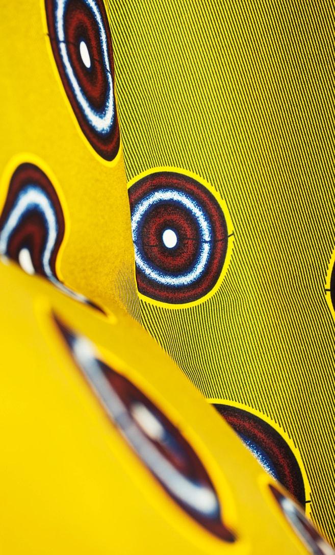 tessuto wax luna 100% cotone di alta qualità made in Tanzania scatto 4