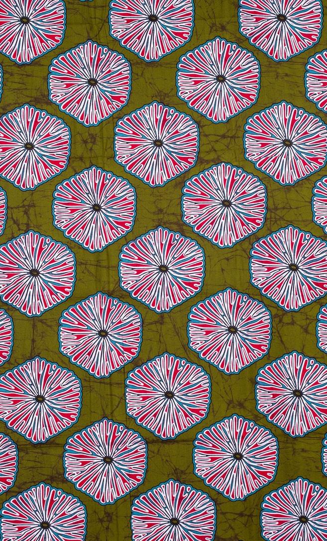 tessuto wax primavera 100% cotone di alta qualità made in Tanzania scatto 1